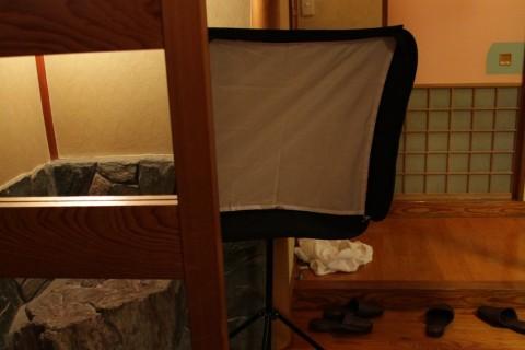 Yumiさん緊縛写真撮影風景